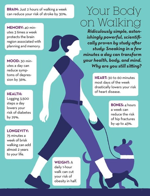 benefits of walking to fertility