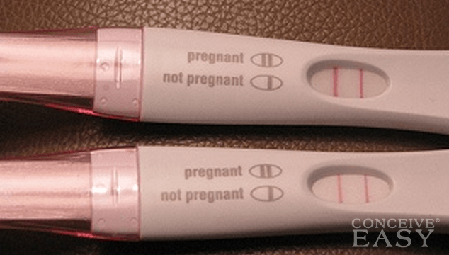 early pregnancy test positive faint line