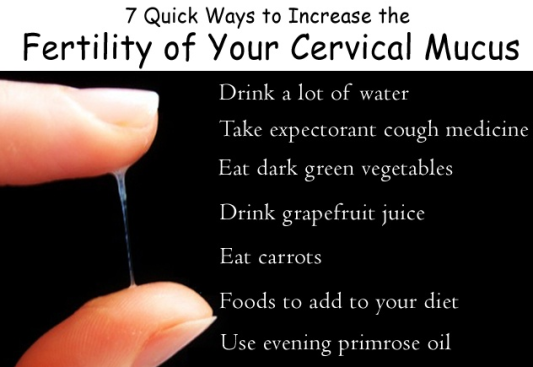 ways to improve cervical mucus - old wives tales