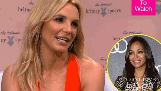Britney Spears Exposes Zoe Saldana's Pregnancy Secret