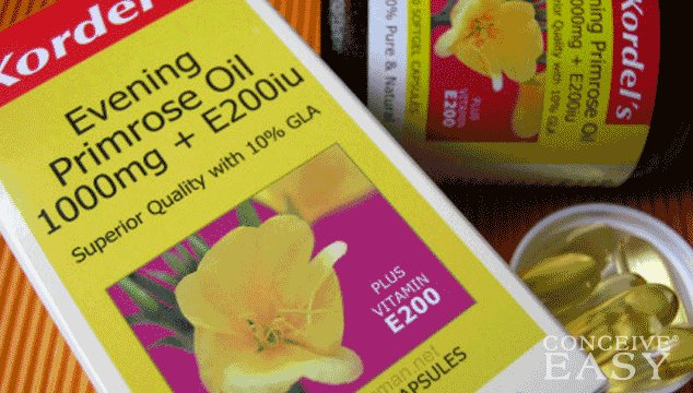 Evening primrose oil to help with ovulation