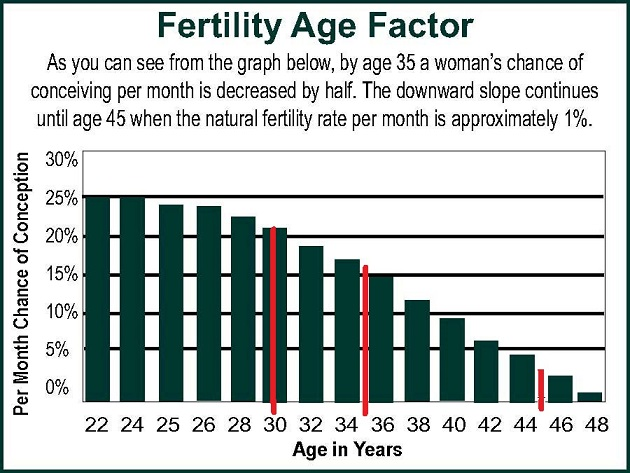 woman's fertility based on age