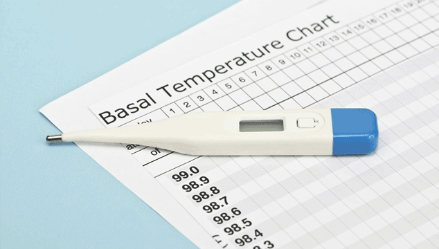 BBT thermometer and chart to track ovulation