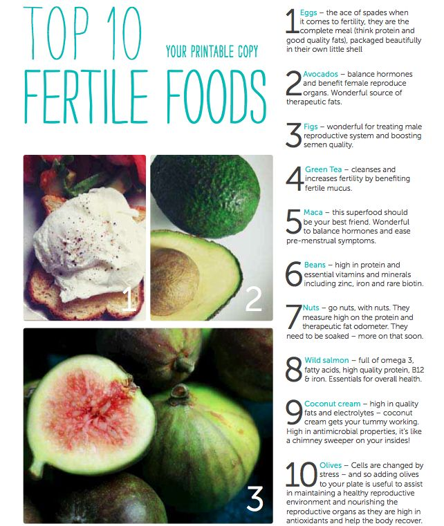 Foods to help boost fertility
