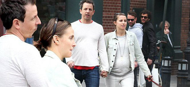 Seth Meyers and Alexi Ashe pregnant