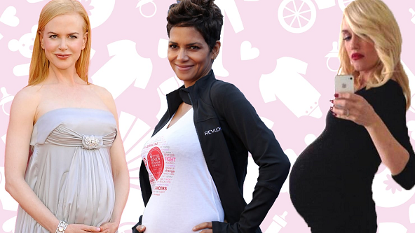 celebrities who got pregnant after 35