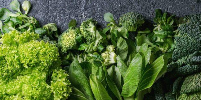 leafy greens for fertility