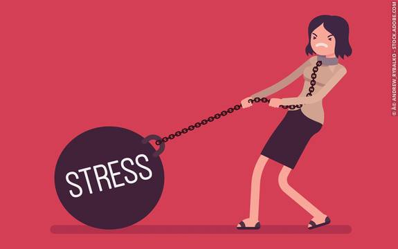 stress is one of the common causes of irregular period
