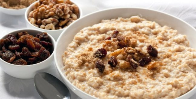 whole grain cereal and oatmeal