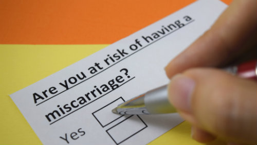risk of a miscarriage