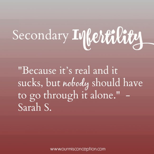 truth about secondary infertility