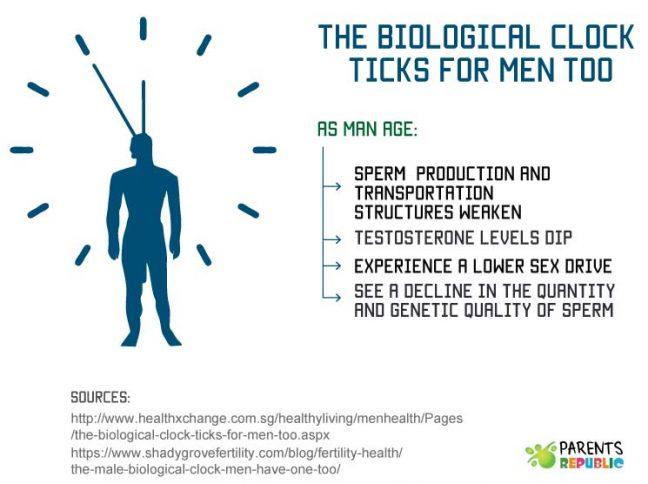 Infertility myths - male biological clock