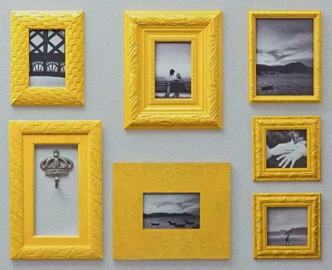 Yellow photo frame