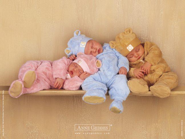 adorable babies sleeping